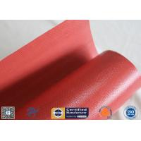 Quality High Intensity Welding Blanket Red Silicone Coated Fiberglass Fabric 590g Weight wholesale