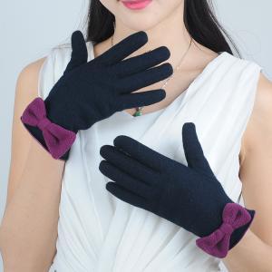 Quality ladies / women's autumn winter color woolen gloves wholesale