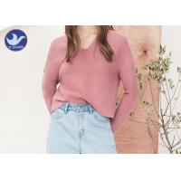Quality Double V Neck Womens Knit Pullover Sweater Drop Shoulder Chunky Loose Top wholesale
