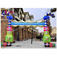 Quality Custom Size Inflatable Candy Cane Arch For Christmas Decoration , CE / SGS wholesale