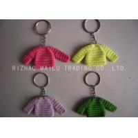 Cheap Knitted Christmas Tree Decorations Four Color Crochet Sweaters With Metal Chain for sale
