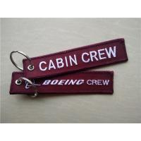 Buy cheap Cabin Crew Airbus Boeing Crew Fabric Embroidery Pilot Key Chains from wholesalers