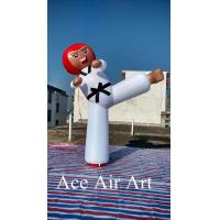 Quality Customize popular advertising inflatable kick boy inflatable Taekwondo model for sale wholesale