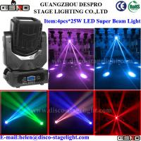 Quality LED Super Moving Head Beam Light 4 pcs*25W Theatre Stage Lighting wholesale