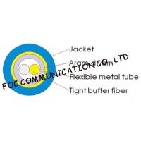 Quality 3.0mm Indoor Armored Fiber Optic Cable Duplex Round Soft and High Tensile Resistant wholesale