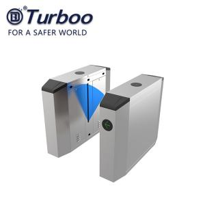 Quality Automatic Fingerprint Pedestrian Flap Barrier Turnstile Waist High PC Acrylic wholesale