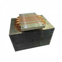 Quality 6 Piece Copper Heat Pipe Heatsink Two Rows Fins with Antioxidant Treatment wholesale