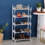 Quality H269 Home Space Saving Metal Mesh Shoe Rack Modern Style Standing Shelf wholesale