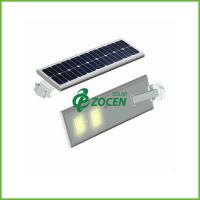 Quality 3M Pole 5W Solar Panel Street Lights Solar Garden Lamps with Toughened Glass Lampshade wholesale