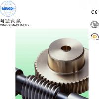 China Black Finished Carton Steel Metal Worm Crown Wheel Gear Turbo For Equipment ISO9000 on sale