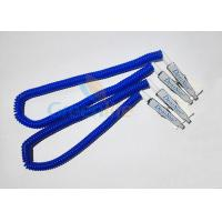 Quality Plastic Stretchy Dental Scarfpin Coiled Cord Blue Color 30CM Long Custom Logo Printing wholesale