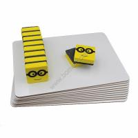 China 3mm personalized pack lapboard plain whiteboard set with eraser for Aamzon selling on sale