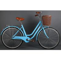 Quality Cheap hi-ten steel colorful 26 inch OL elegant city bicycle for lady  with Shimano 7 speed with pvc basket wholesale