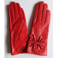 Quality Lady′s Fashion Leather Gloves with Bowknot (CF3243) wholesale