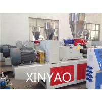 Quality High output PVC Conical Double Screw Extruder Machine Automatic wholesale