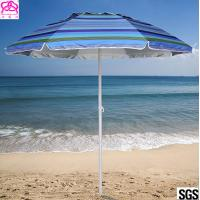 Quality Steel Frame Outdoor Parasol Umbrella UV Protection For Sandy Beach Sunshade wholesale