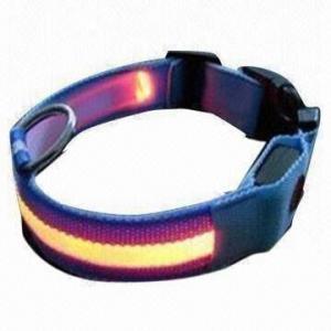 Quality LED Flashing Pet and Dog Leashes/Collar, Safety LED Band, Made of LED and Nylon wholesale
