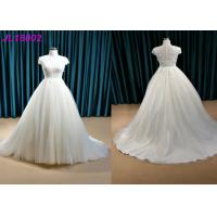 Quality Ivory Plus Size Princess Wedding Gown , Party Maxi Cap Sleeve Princess Wedding Dresses wholesale