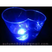Quality decorated LED blue light ice buckets wholesale