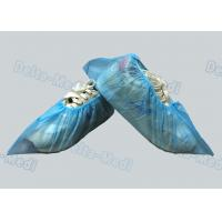 Cheap PP / SMS Blue Non Woven Disposable Surgical Shoe Covers For Hospital / Laboratory for sale