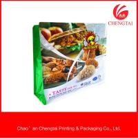 China Fast Food Packaging Flat Bottom Pouches Oxygen Resistance Flat Bottom Bags on sale