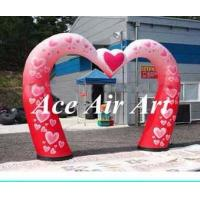 Quality custom romantic heart inflatable wedding arch decorations for evening party wholesale