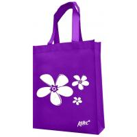 Quality Purple material white image printed non woven shopping bag_China Printing Factory wholesale