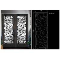 Quality top notch security easy cleaning  Inlaid Door Glass for Building Decorative insulated and tempered wholesale