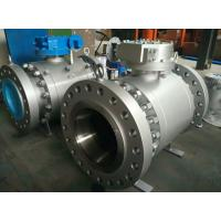 China ENP Xylan Coated Forged Trunnion Mounted Ball Valve Reduced Port  B16.10 Vent And Drain on sale