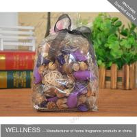 Quality Car Perfume Bag Scented Potpourri Bag With Black Ribbon , Personalised Size wholesale