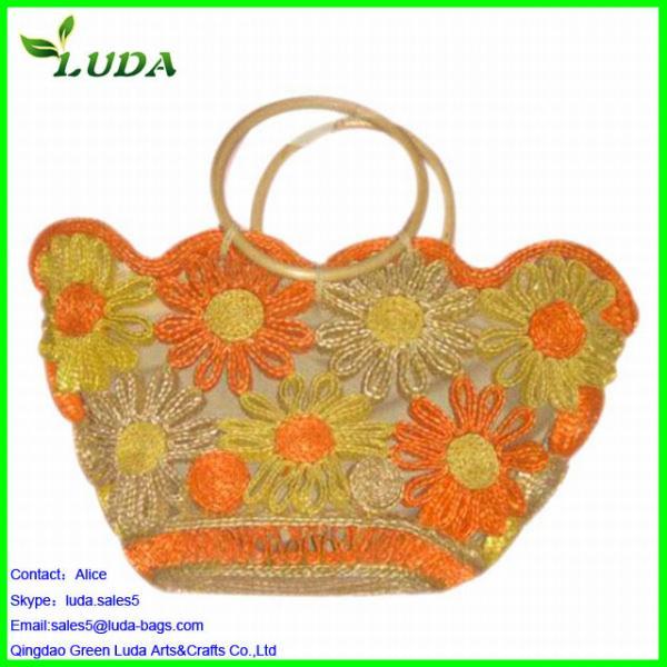 Cheap Woven Hand Straw Beach Bag Of Qingdao Green Luda