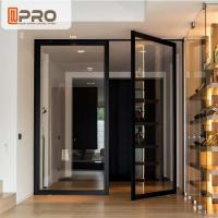 China Interior Pivot Revolving Modern Entry Doors Commercial Aluminium Glazing on sale