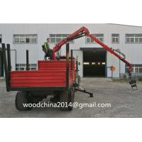Quality Forest Trailer with Crane and Grables Dump Trailer with Grab mounted on front part wholesale