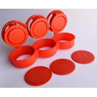 Quality Triple Burger Presses Small Kitchen Tools Mini Red For Three Meat Patties wholesale