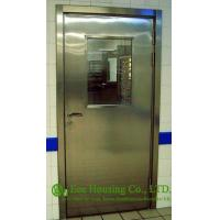 Quality Single-leaf Stainless Steel Fire Resistant Security Glass Door In Satin Finish wholesale