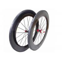 Quality 700C Chinese Carbon Road Bike Wheels 88MM With Straight Pull Powerway R36 Hub wholesale