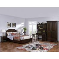 Quality American Leisure Antique Design Single bedroom furniture Small bed with writing Desk and Bookcase and 2 door wardrobe wholesale