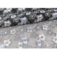Quality Floral Design Embroidered Tulle Lace Fabric For Bridal Wedding Dresses wholesale