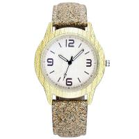 Quality Modern Brown Womens Fashion Watch , Hard Glass Wood Leather Watch wholesale