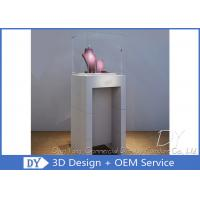 Quality Simple Fashion Pedestal Glass Museum Display Case With Lock / Logo wholesale