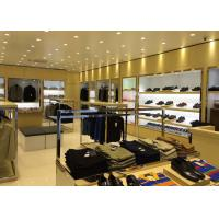 Quality Veneer Stainless Steel Clothing Display Case Contemporary Luxury Retail Design wholesale