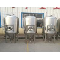 Buy cheap 5000l Beer Fermentation Tanks Side Manway Bunging Valve Glycol Jacket from wholesalers