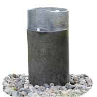 Quality Cylinder Shaped Cast Stone Garden Fountains / Large Outdoor Fountains wholesale
