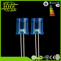 China Concave 8mm LED Light Emitting Diode With Colored Diffused Lens / 120 Degree Beam Angle on sale