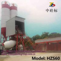 China HZS60 ready mixed concrete batching plant for road building and mobile concrete batching plant on sale