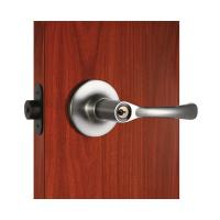 Quality Polished Security Tubular Lock Set Satin Nickel Lever Handle wholesale