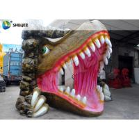 Quality Vivid Dinosaur 5D Movie Theater With Red Luxury Chairs , Genuine Leather Fiberglass wholesale