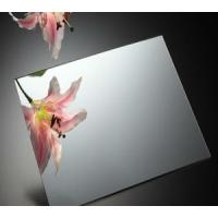 Quality Waterproof Mirror Glass Panel with silver / aluminum coated 1.1mm - 8mm wholesale