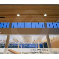Buy cheap Eco Friendly Wood Plastic Composite Ceiling Panel 40mm * 25mm Fireproof from wholesalers