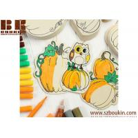 Quality Wood Cutout Pumpkin Ornaments Kid
